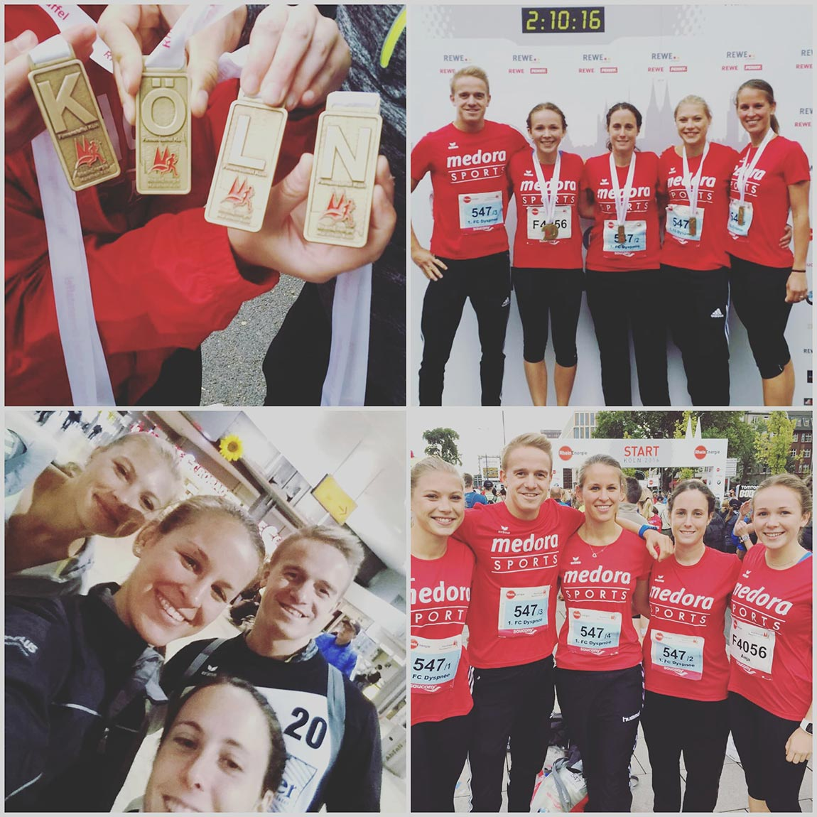 Team medora Sports beim Köln Marathon